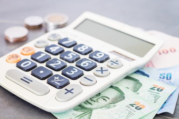 Számológép pénz szürke stock fotó üzlet Stock fotó © punsayaporn