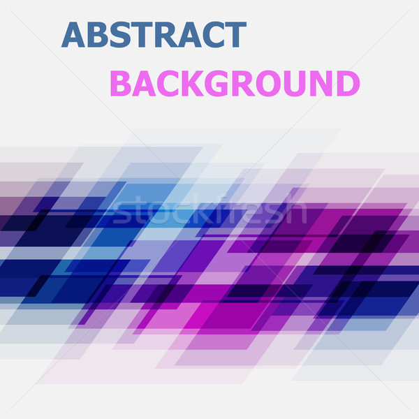 Abstract blue and pink geometric overlapping background Stock photo © punsayaporn