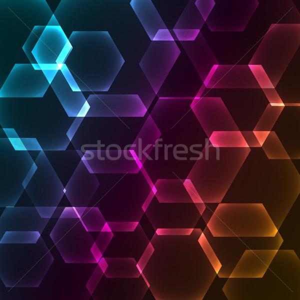 Bokeh blur with hexagons background Stock photo © punsayaporn