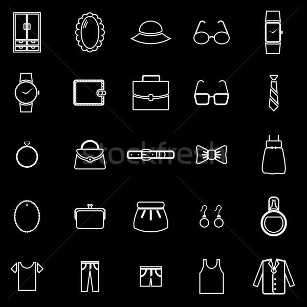 Aderezo línea iconos negro stock vector Foto stock © punsayaporn
