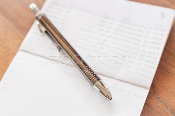 銀行 アカウント ペン 在庫 写真 図書 ストックフォト © punsayaporn