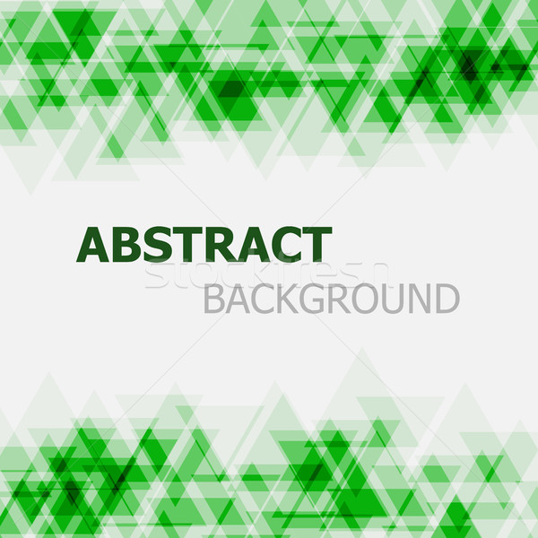 Abstract green triangle overlapping background Stock photo © punsayaporn