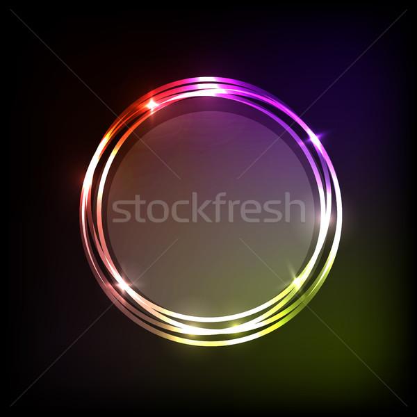 Színes körök szalag absztrakt stock vektor Stock fotó © punsayaporn