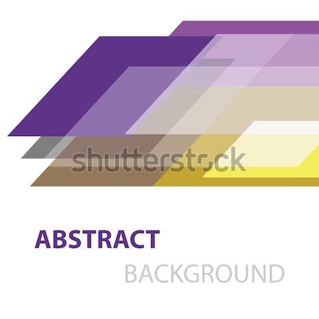 Abstract kleurrijk meetkundig witte voorraad vector Stockfoto © punsayaporn