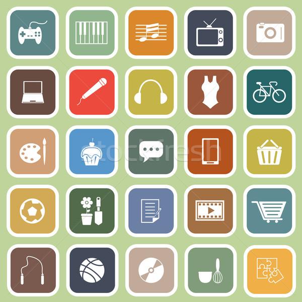 иконки зеленый складе вектора компьютер Сток-фото © punsayaporn