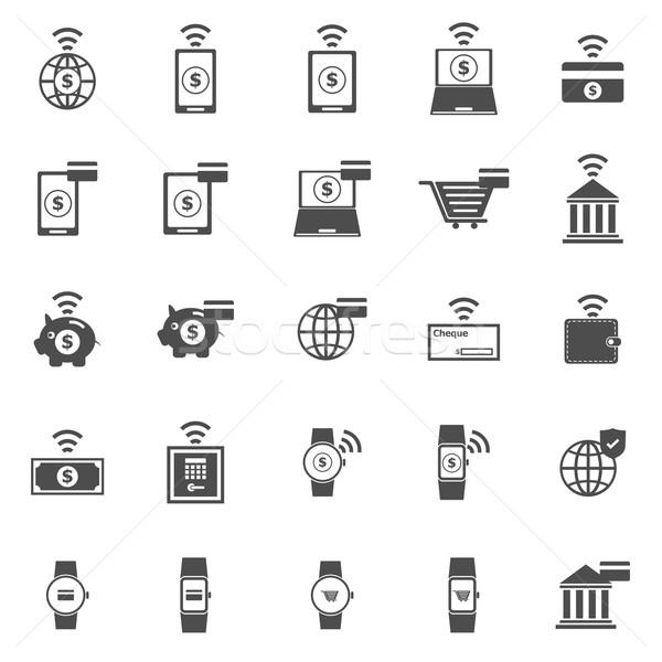アイコン 白 在庫 ベクトル 電話 デザイン ストックフォト © punsayaporn