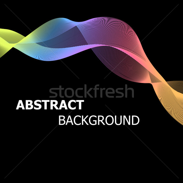 Abstract background with colourful pastel lines wave Stock photo © punsayaporn