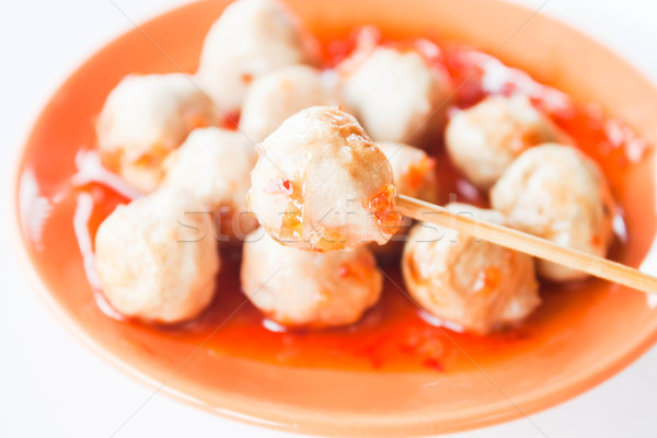 Klein varkensvlees oranje schotel schone Stockfoto © punsayaporn