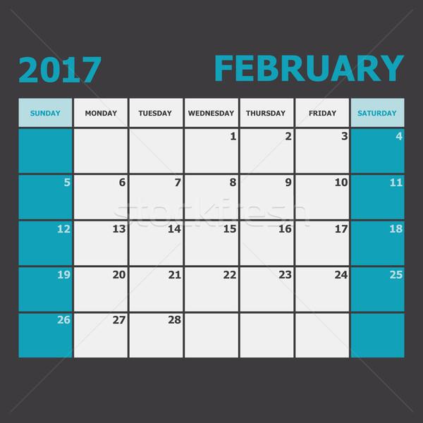 Calendario semana stock vector oficina diario Foto stock © punsayaporn