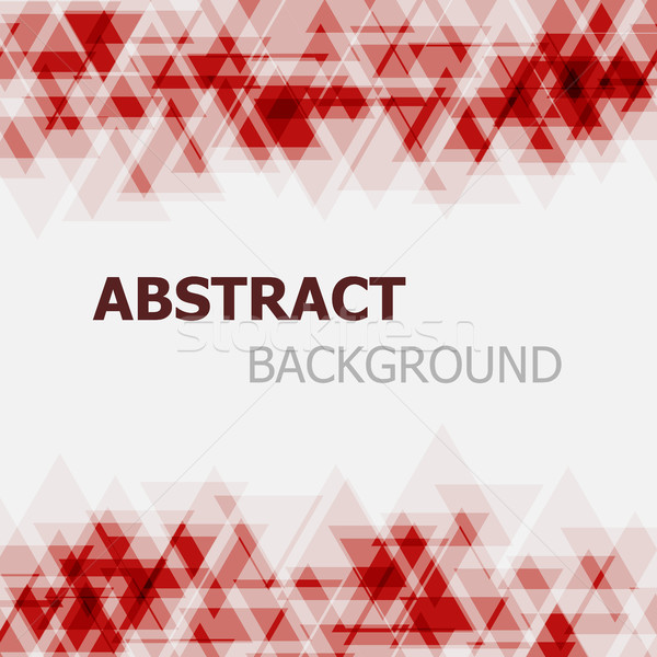 Abstract red triangle overlapping background Stock photo © punsayaporn