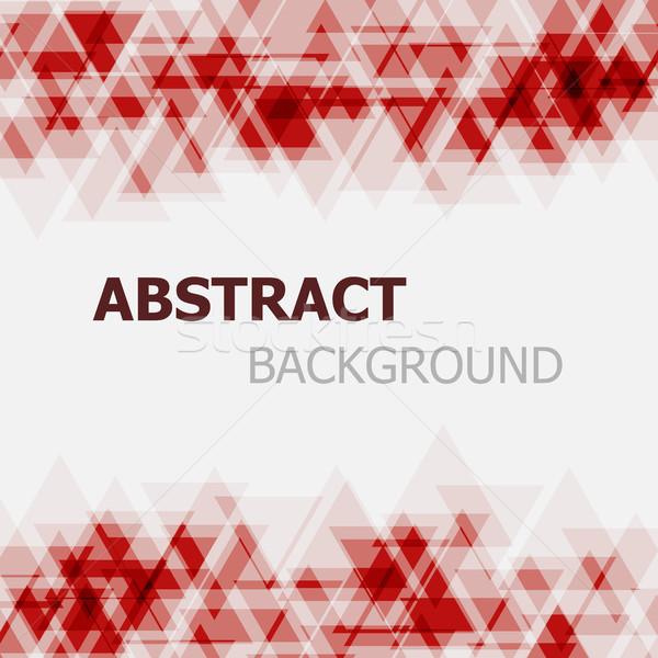 Absztrakt piros háromszög stock vektor üzlet Stock fotó © punsayaporn