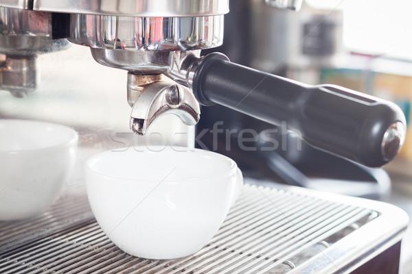 эспрессо белый чашку кофе складе фото стороны Сток-фото © punsayaporn