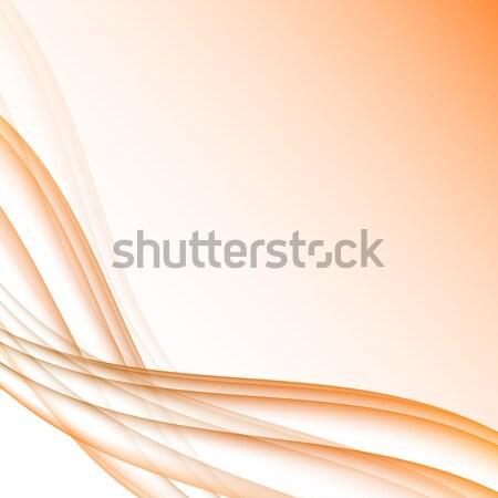 Oranje witte golven moderne futuristische abstract Stockfoto © punsayaporn