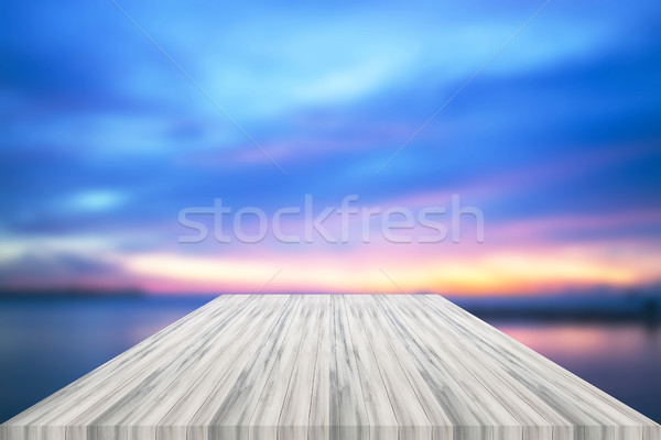Lege witte tabel top zonsondergang product Stockfoto © punsayaporn