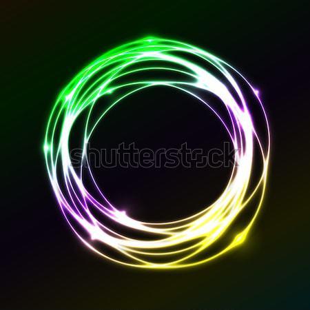 Farbenreich Plasma Kreis Wirkung hat Vektor Stock foto © punsayaporn