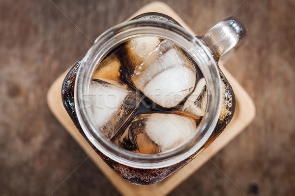 Top view of iced cola Stock photo © punsayaporn