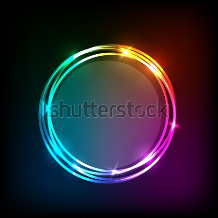 Abstract neon background with circles Stock photo © punsayaporn