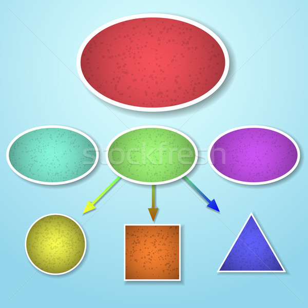 Mind mapping of different shape template Stock photo © punsayaporn