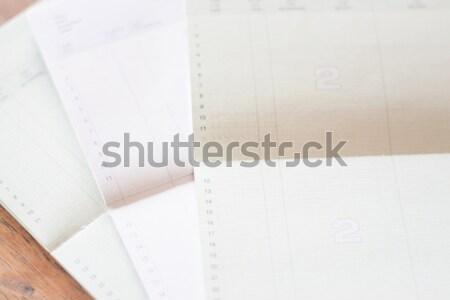 Drie bank rekening voorraad foto boek Stockfoto © punsayaporn