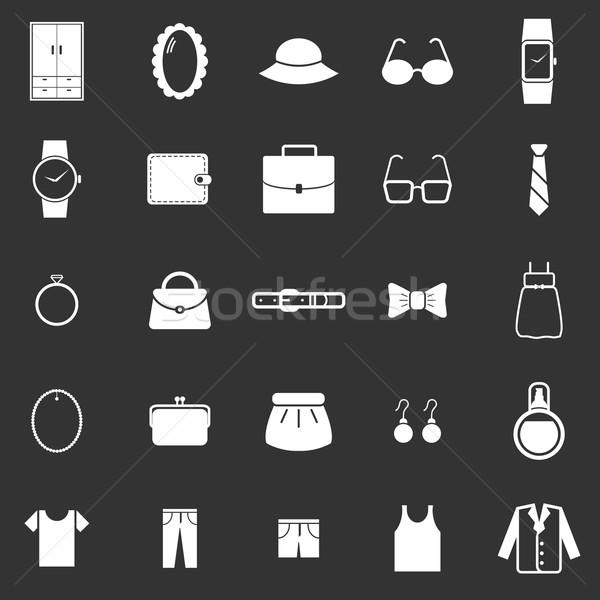Stock fotó: öntet · ikonok · fekete · stock · vektor · öltöny