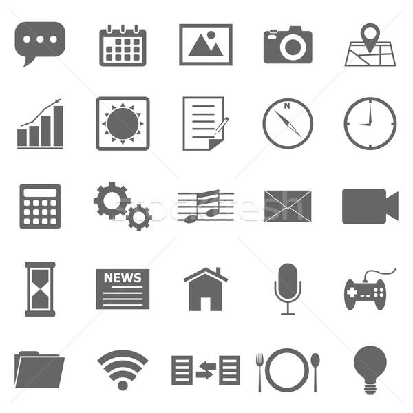 Toepassing iconen witte voorraad vector telefoon Stockfoto © punsayaporn