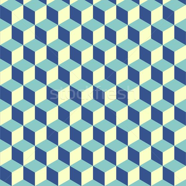 Abstract isometric cube pattern background Stock photo © punsayaporn
