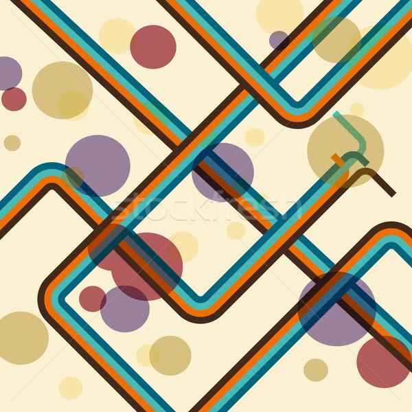 カラフル 行 レトロな 在庫 ベクトル 抽象的な ストックフォト © punsayaporn