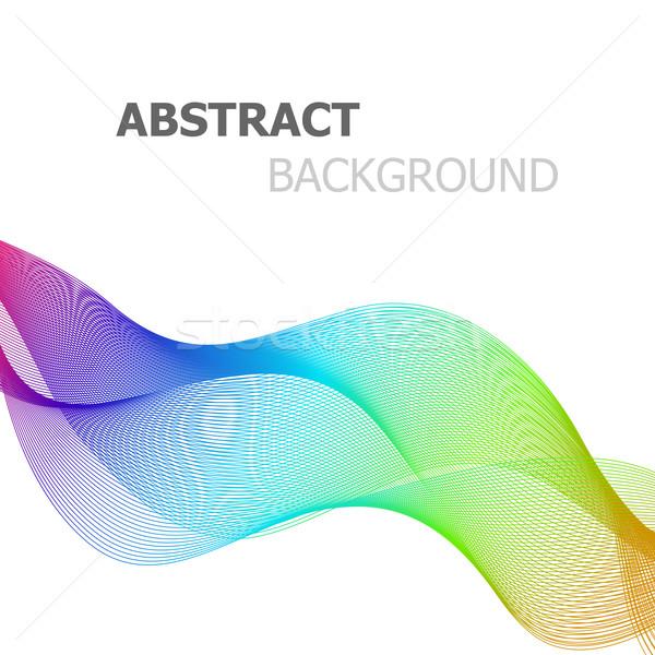 Abstract kleurrijk lijn golf witte voorraad Stockfoto © punsayaporn