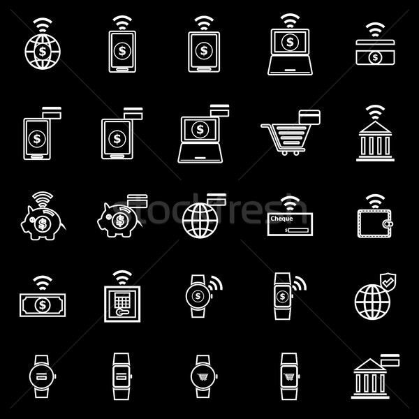 Hat simgeler siyah stok vektör telefon Stok fotoğraf © punsayaporn