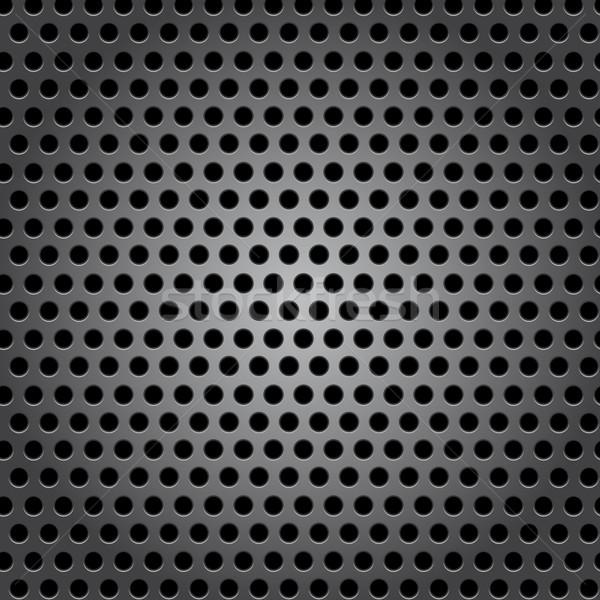 Senza soluzione di continuità cerchio superficie metallica texture piatto nero Foto d'archivio © punsayaporn