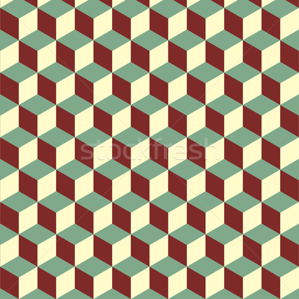 Abstract isometric colorful cube pattern background Stock photo © punsayaporn