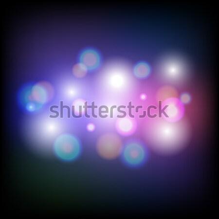 Abstract colorful bokeh light background Stock photo © punsayaporn