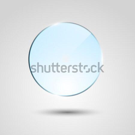 Kék átlátszó üveg kör szalag stock Stock fotó © punsayaporn