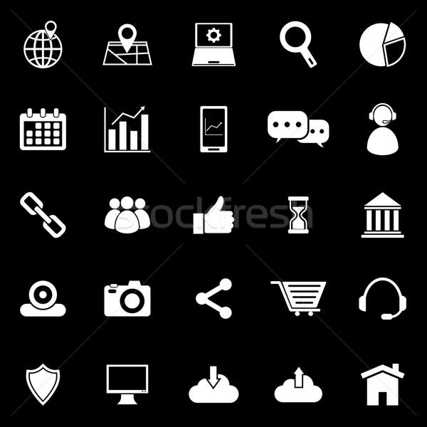 SEO icons on black background Stock photo © punsayaporn