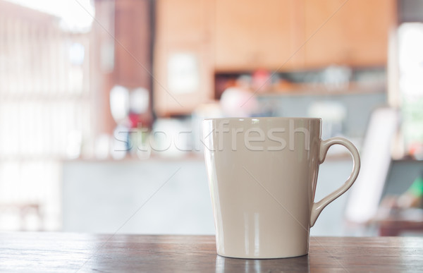 Koffiemok coffeeshop voorraad foto kantoor koffie Stockfoto © punsayaporn