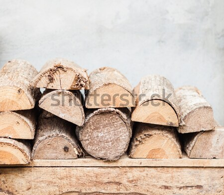 スタック 薪 装飾された 庭園 在庫 写真 ストックフォト © punsayaporn
