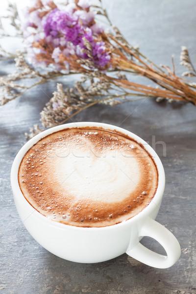 Xícara de café belo violeta flor estoque foto Foto stock © punsayaporn