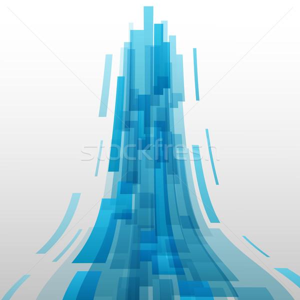 抽象的な 青 要素 技術 在庫 ベクトル ストックフォト © punsayaporn