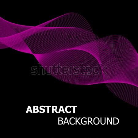Abstract roze lijn golf voorraad vector Stockfoto © punsayaporn