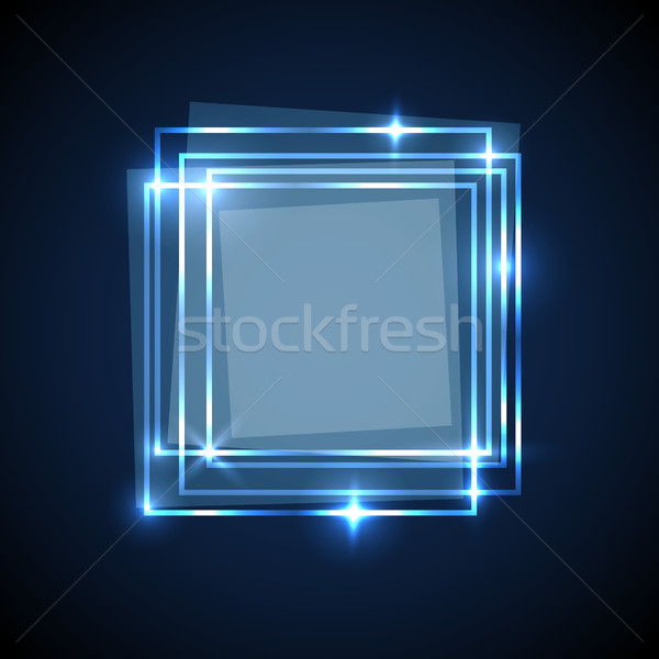 Abstract background with blue squares banner Stock photo © punsayaporn