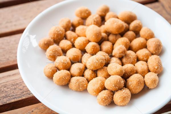 Erdnüsse würzig Würze Textur Essen Stock foto © punsayaporn
