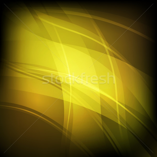 Abstract background with yellow line wave Stock photo © punsayaporn