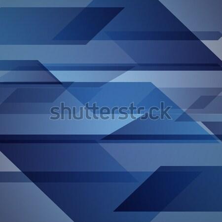 抽象的な 青 幾何学的な 在庫 ベクトル ストックフォト © punsayaporn