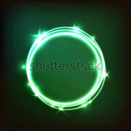 Soyut yeşil circles stok vektör Stok fotoğraf © punsayaporn