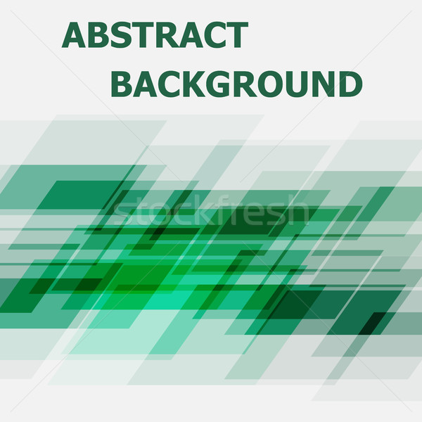 Abstract green geometric overlapping design background Stock photo © punsayaporn