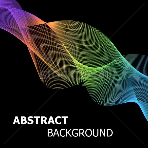Kleurrijk abstract lijn golf voorraad vector Stockfoto © punsayaporn