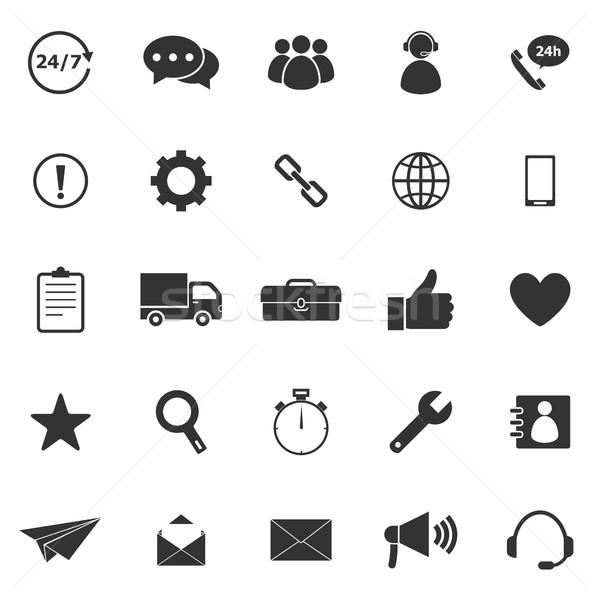Customer service icons on white background Stock photo © punsayaporn