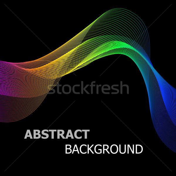 Abstract kleurrijk lijn golf voorraad vector Stockfoto © punsayaporn