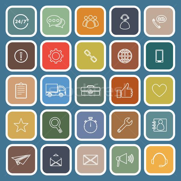 Müşteri hizmetleri simgeler mavi stok vektör teknoloji Stok fotoğraf © punsayaporn