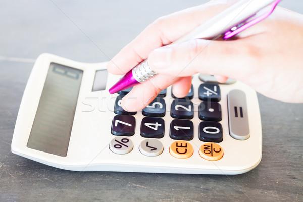 Kéz számológép toll stock fotó üzlet Stock fotó © punsayaporn